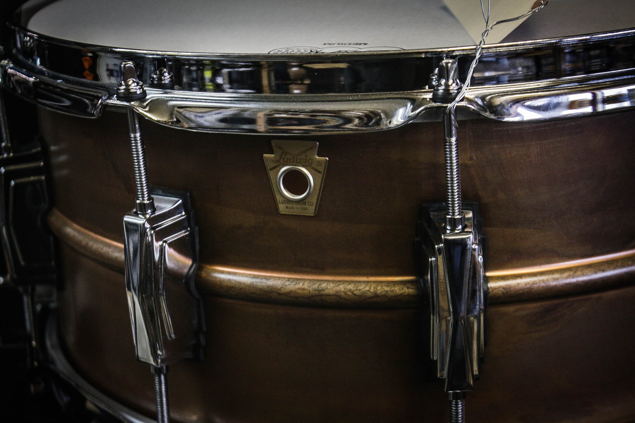 Ludwig 6.5x14 Copperphonic Patina Snare Drum