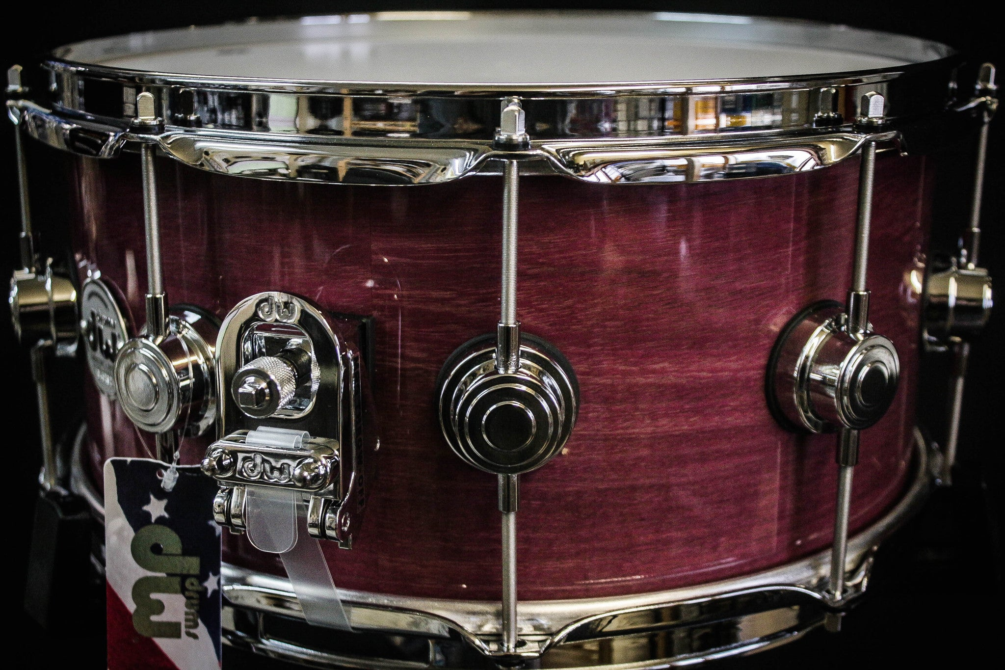 DW Collector's Series 6.5x14 Purple Heart Snare Drum