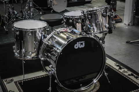 DW Collector's Series Stainless Steel 3 Piece Drum Set