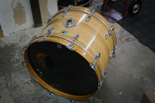 70s Ludwig 14x22 Butcher Block Bass Drum
