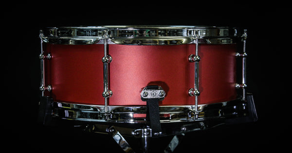 Keplinger Cast Iron 5.5x14 Powder Coated Red Snare Drum