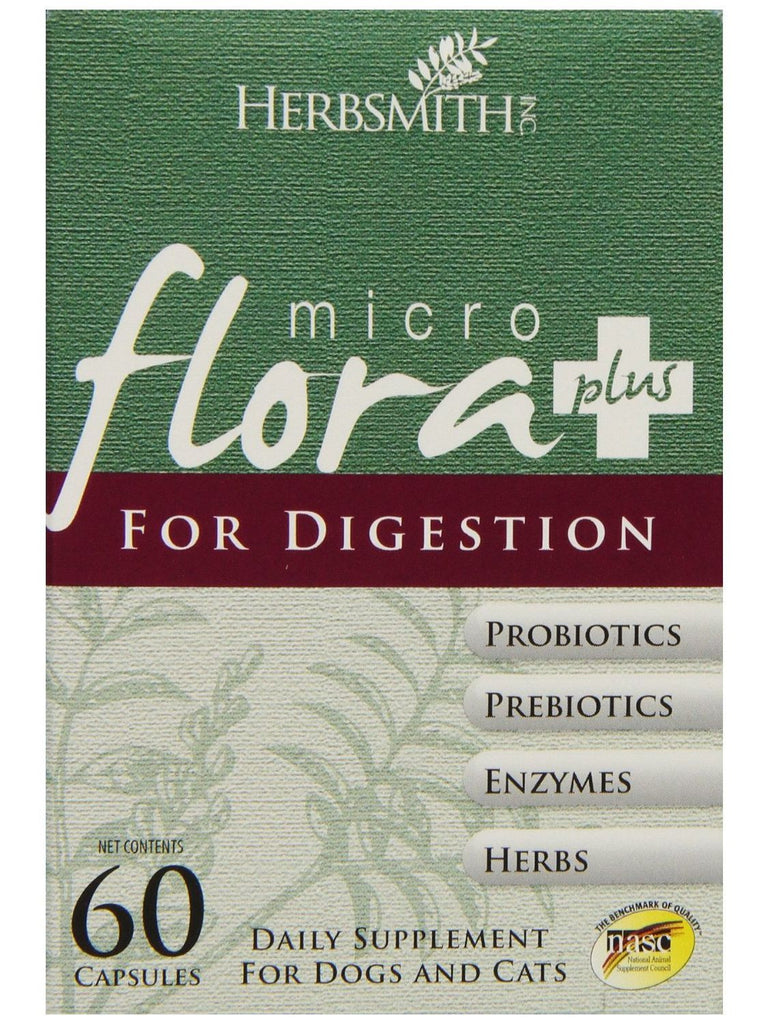 Herbsmith, Microflora Plus Digestion for Dogs and Cats, 60 caps