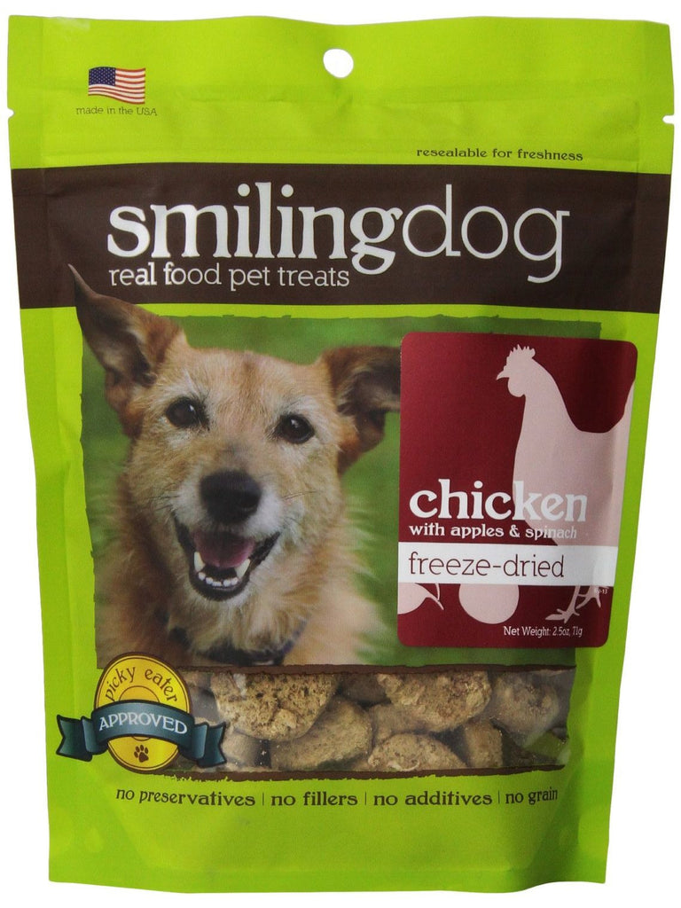 Herbsmith, Smiling Dog Treats Freeze Dried Chicken, 2.5 oz