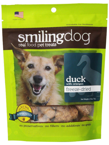 Herbsmith, Smiling Dog Treats Freeze Dried Duck, 2.5 oz