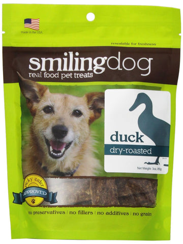 Herbsmith, Smiling Dog Treats Dry Roasted Duck, 3 oz