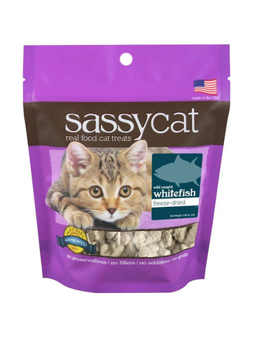 Herbsmith, Sassy Cat Treats Freeze Dried Whitefish, 1.25 oz