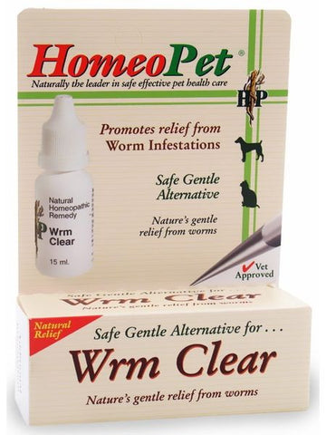 HomeoPet, Wrm Clear, 15 ml