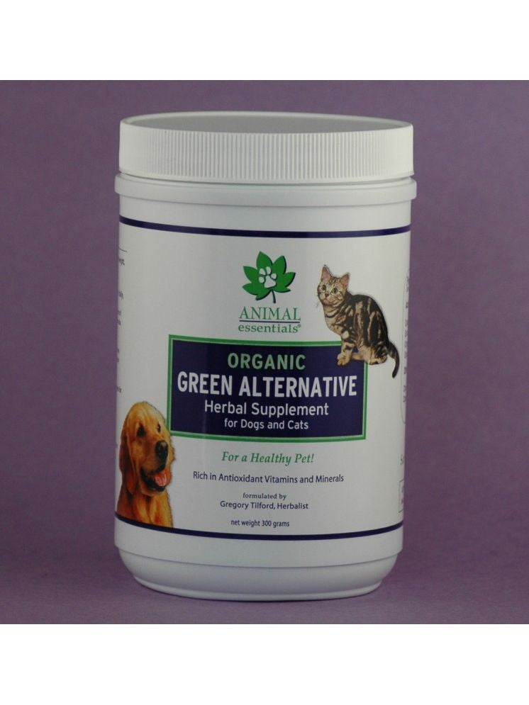 Animal Essentials, Organic Green Alternative Herbal Supplement Powder for Dogs and Cats, 300 gm