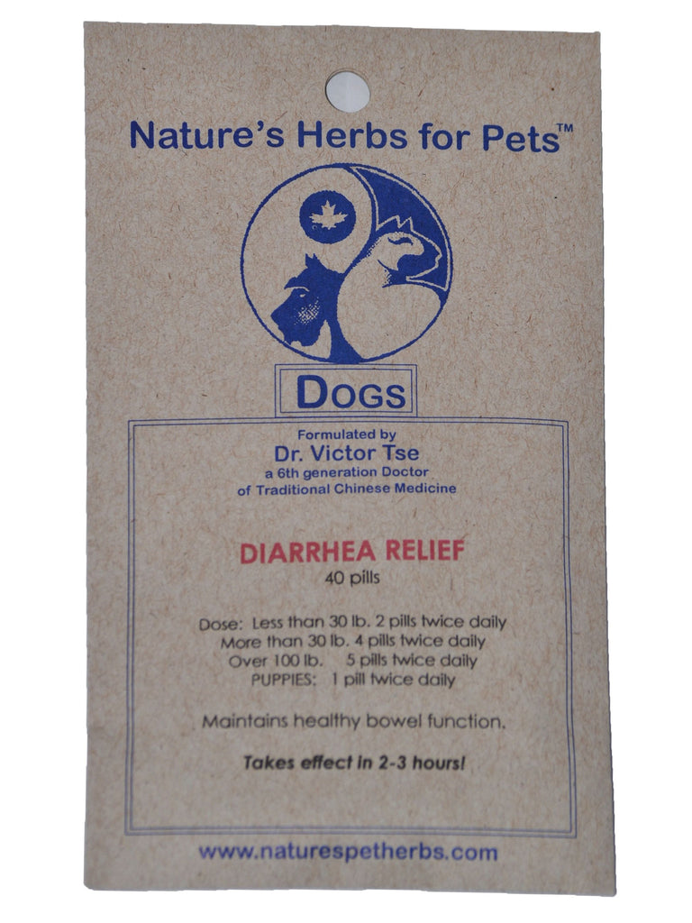 Natures Herbs for Pets, Diarrhea Relief for Dogs, 40 ct