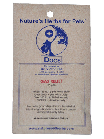 Natures Herbs for Pets, Gas Relief for Dogs, 50 ct