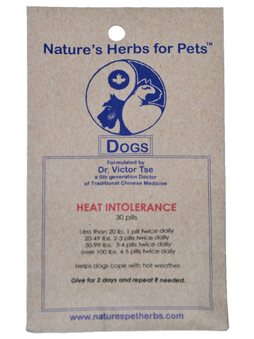 Natures Herbs for Pets, Heat Intolerance for Dogs, 30 ct