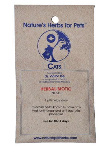 Herbal Biotic for Cats, 40 ct, Natures Herbs for Pets