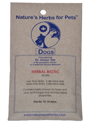 Natures Herbs for Pets, Herbal Biotic for Dogs, 40 ct