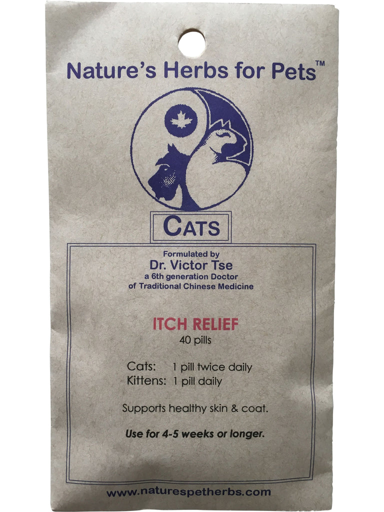 Natures Herbs for Pets, Itch Relief for Cats, 40 ct