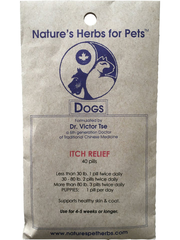 Natures Herbs for Pets, Itch Relief for Dogs, 40 ct