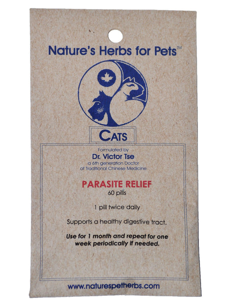 Parasite Relief For Cats 60 Ct Natures Herbs For Pets