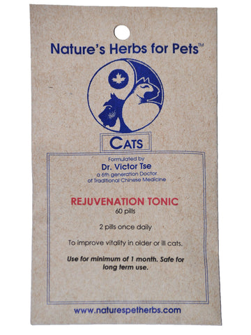 Natures Herbs for Pets, Rejuvenation Tonic for Cats, 60 ct