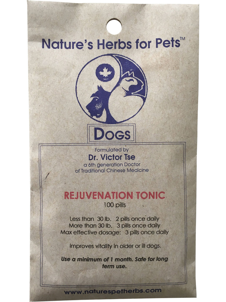 Natures Herbs for Pets, Rejuvenation Tonic for Dogs, 100 ct