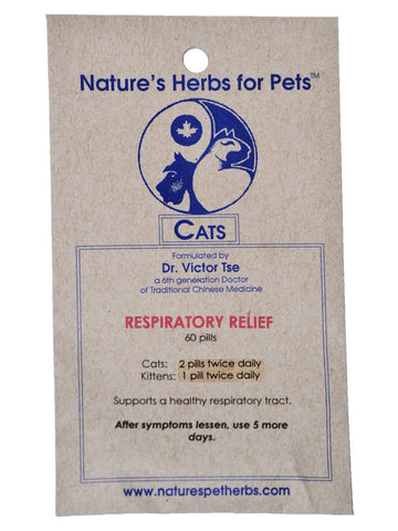 Natures Herbs for Pets, Respiratory Relief for Cats, 30 ct