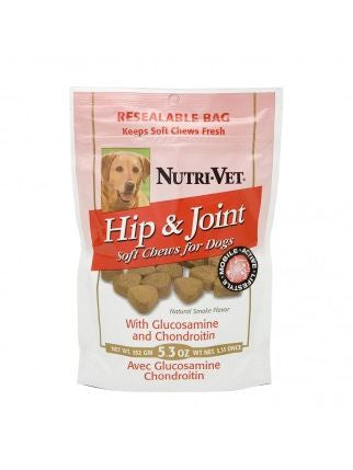 Nutri-Vet, Hip and Joint Soft Chew for Dogs, 5.3 oz