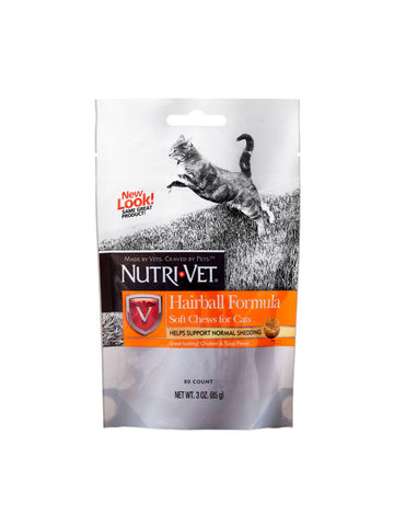 Nutri-Vet, Hairball Formula for Cats Soft Chews, 2.5 oz