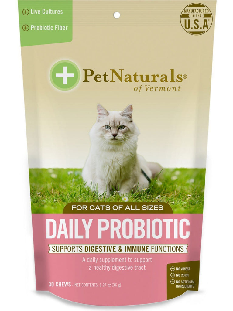 Pet Naturals of Vermont, Daily Digest For Cats, 30 chews