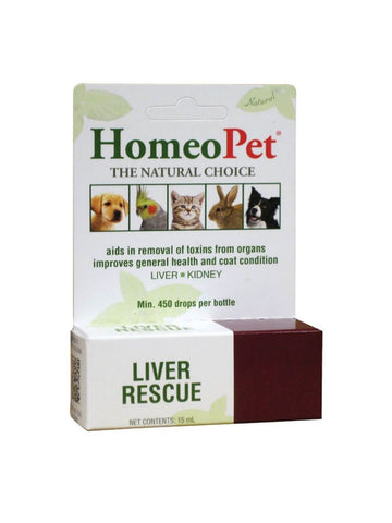 Homeopet, Liver Rescue Cleanz Detox Drops, 15 ml
