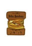 boho bandeau - metallic gold