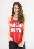 hey y'all tailgate queen tank-red