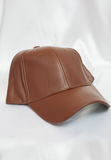fifth ave faux leather cap - chocolate