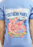 festival series tee-shrimp washed blue