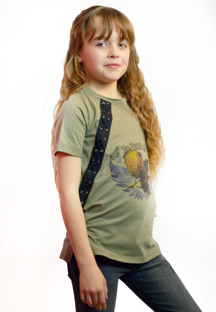 lil belle 75' is still alive graphic tee-army green