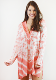 tybee tie dye cover up - pink