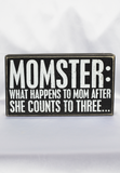 momster box sign