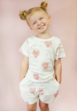 lil belle toddler distressed hearts set - pink/white