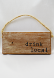 drink local wooden door hanger
