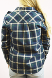 classic roll sleeve flannel - forest green