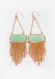with envy earrings - jade