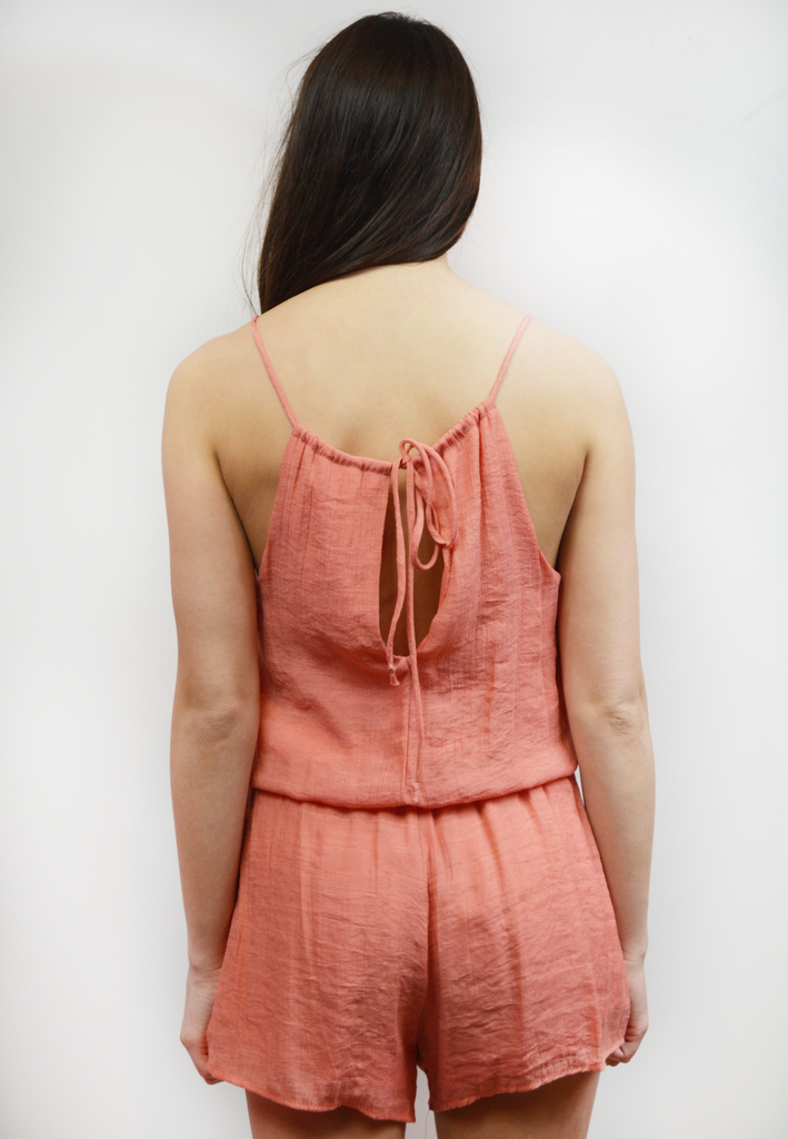 original love romper-peach