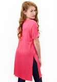 free to move side slit tee-coral