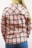 classic roll sleeve flannel - pink