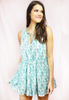 sweet escape pineapple print dress-blue
