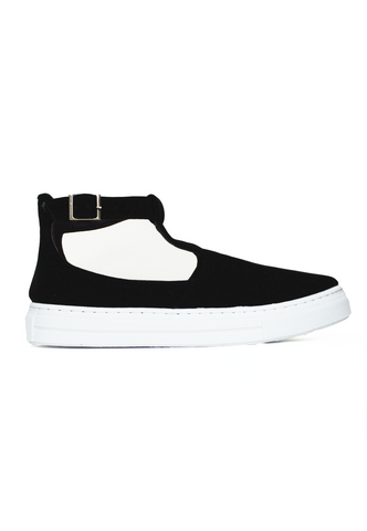 drama queen structured tennis shoes - black