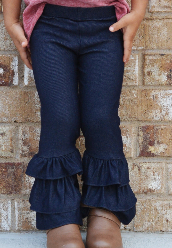 lil belle totally ruffled pants-indigo