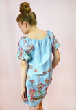 lil belle floral garden embroidered dress - denim