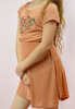 lil' belle daydreamer dress - burnt orange