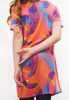 free to move side slit tee - tropical