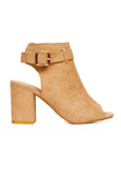 strut in style camel heeled sandals