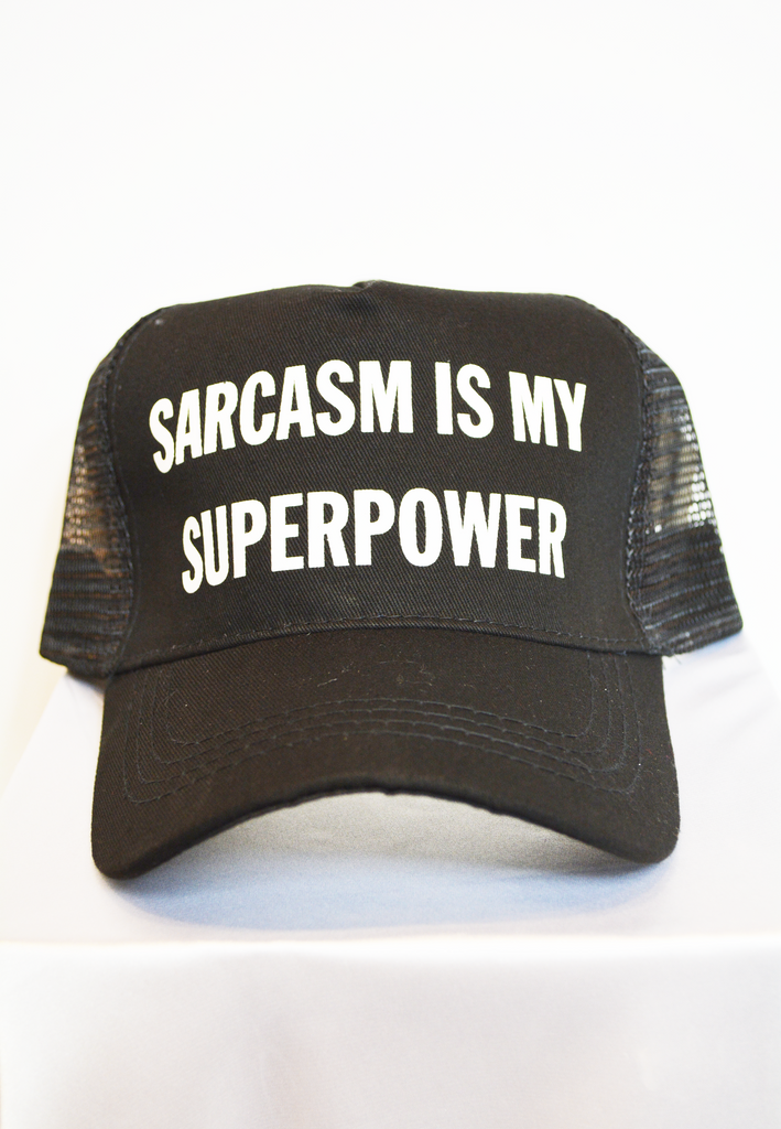 sarcasm is my superpwer hat