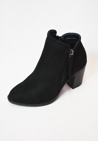 down for anything block heel - black
